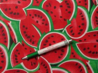 Mintás pamutvászon, görögdinnyés (9998)