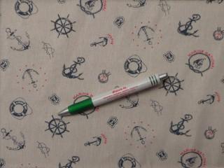 Loneta, nyers alapon matrózos, kerti bútor vászon (10015)