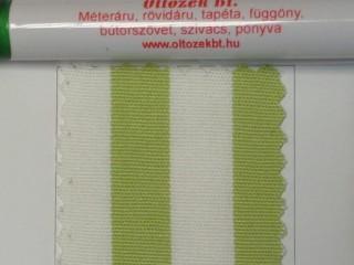 UV álló kültéri vászon, pisztácia-fehér csíkos (10054)