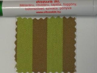 UV álló kültéri vászon, pisztácia-caqui csíkos (10055)