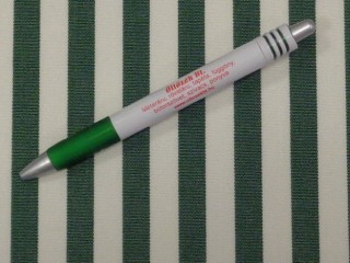 UV álló kültéri vászon, sötétzöld-fehér csíkos (10059)