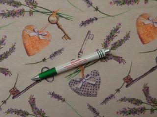 Loneta, levendulás, kulcsos, szívecskés kerti bútor vászon (10087)