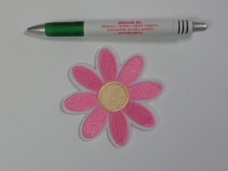 Vasalható folt, szirmos virág, nagy, rózsaszín (10118)