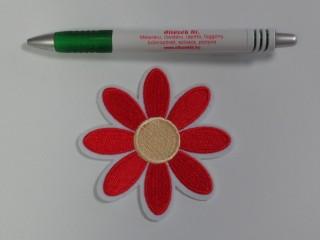 Vasalható folt, szirmos virág, nagy, piros (10120)