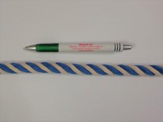 Táskafül kötél, sodrott, kék-nyers (10121)