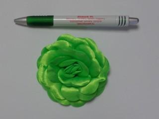 Szatén rózsa, nagy, neon zöld (10133)