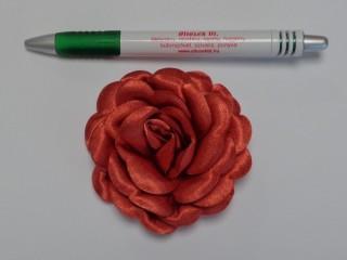 Szatén rózsa, nagy, terrakotta (10134)