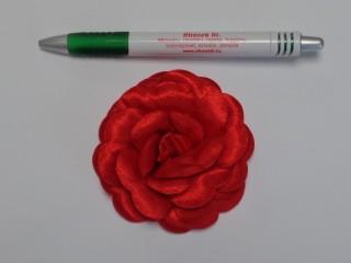Szatén rózsa, nagy, piros (10135)