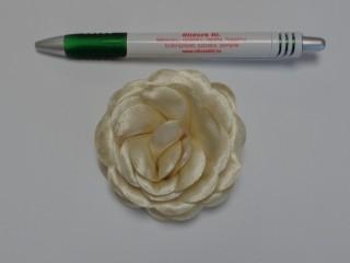 Szatén rózsa, nagy, bézs (10136)