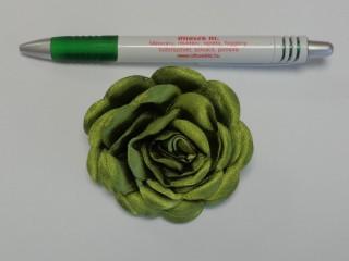 Szatén rózsa, nagy, olivazöld (10139)