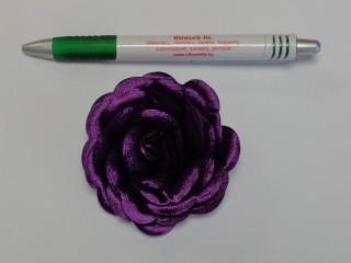 Szatén rózsa, nagy, sötét lila (10143)