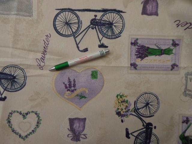 Loneta, levendulás, biciklis (10186)
