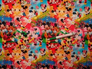 Sztreccs futter, színes Minnie-s, Mickey-s (10266)