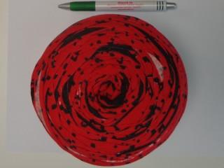 Pólófonal, mintás, piros-fekete (10339)