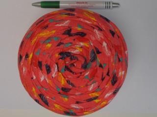 Pólófonal, mintás, piros-színes (10340)