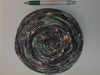 Pólófonal, mintás, fekete-színes (10343)