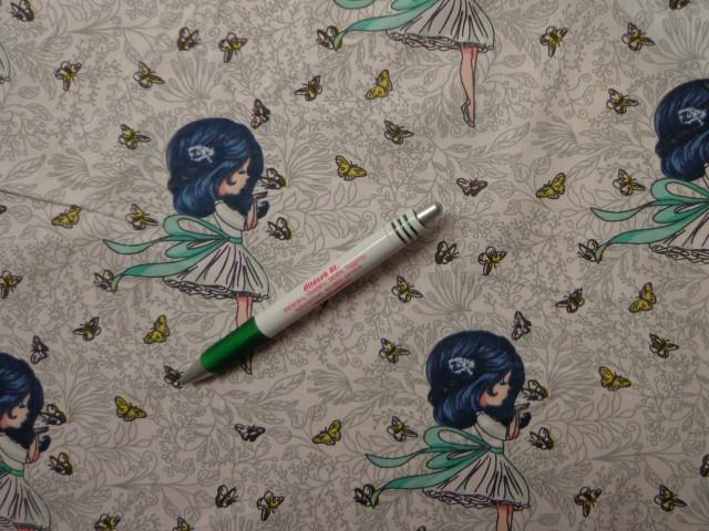 Gyerekmintás vászon, kislányos, pillangós (10404)