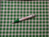 Mintás pamutvászon, fehér-zöld kockás (10419)