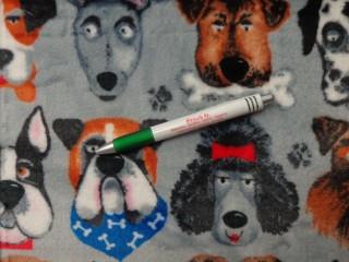 Babysoft, szürke alapon kutyafejek (10450)