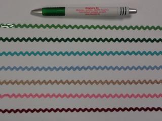 Farkasfog, világos zöld, 5 mm széles (10471)
