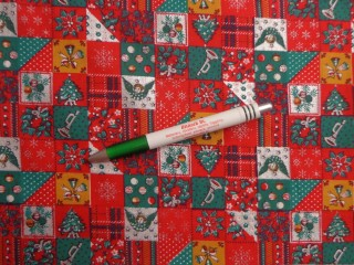 Karácsonyi mintás pamutvászon, piros-zöld kockás (10500)