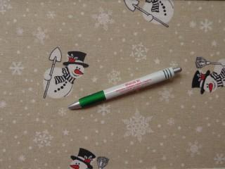 Loneta, karácsonyi vászon, hópelyhes, hóemberes (10503)