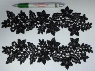 Páros csipke, fekete (10516)