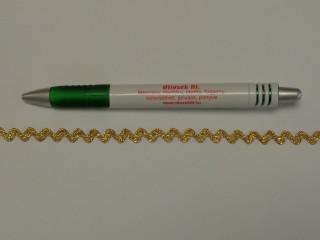 Farkasfog, arany, 6 mm széles (10593)