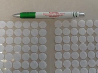 Folt tépőzár, fehér, 15 mm-es (10591)