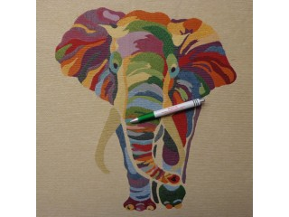 Párna panel, elefántos (10607)