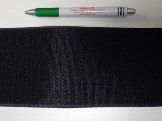 Öntapadós tépőzár, csak a horgos fele, 10 cm széles, fekete (10687)