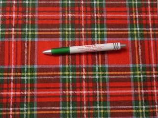 Loneta, karácsonyi vászon, skót kockás (10715)
