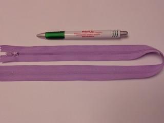 RT-0, 50 cm hosszú, műanyag, spirál fogú cipzár, világos lila (10740)