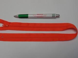 RT-0, 50 cm hosszú, műanyag, spirál fogú cipzár, narancs (10741)