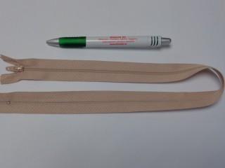 RT-0, 50 cm hosszú, műanyag, spirál fogú cipzár, drapp (10747)
