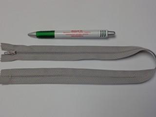 RT-0, 50 cm hosszú, műanyag, spirál fogú cipzár, világos szürke (10748)