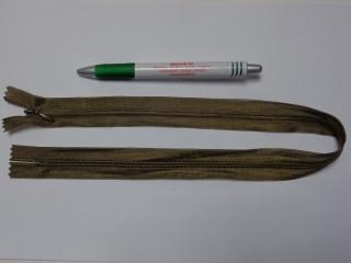 Rejtett cipzár, 50 cm-es, keki (10756)