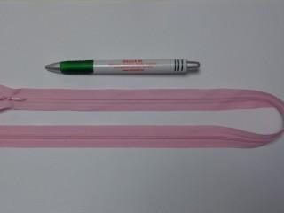 Rejtett cipzár, 50 cm-es, világos rózsaszín (10772)