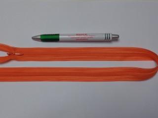 Rejtett cipzár, 50 cm-es, narancs (10774)