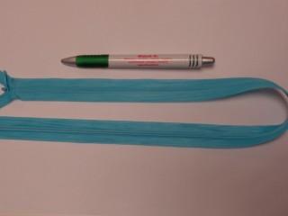 Rejtett cipzár, 50 cm-es, türkiz kék (10779)