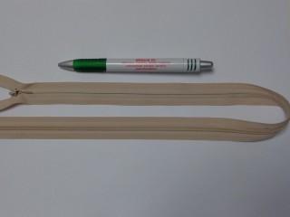 Rejtett cipzár, 50 cm-es, drapp (10780)
