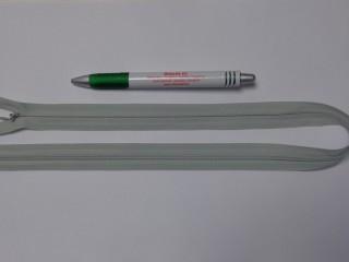 Rejtett cipzár, 50 cm-es, világos szürke (10781)