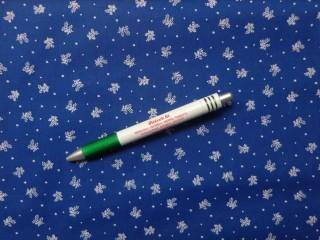 Mintás pamutvászon, kékfestő jellegű, virágcsokros (10794)