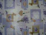 Viaszos vászon, levendulás, szivecskés (10795)