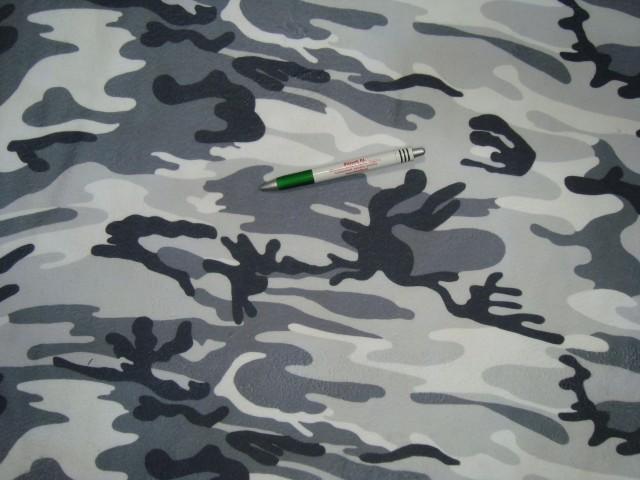 Hóterepmintás polár, fehér-szürke-fekete színben (10803)
