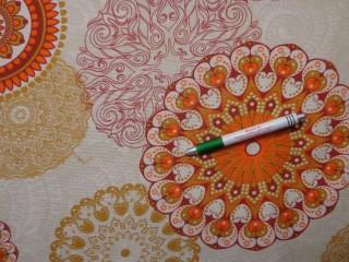 Loneta, narancs mandalás kerti bútor vászon (10844)