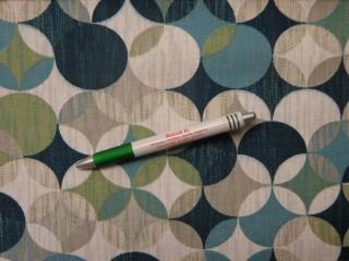 Loneta, zöld-türkiz körök, kerti bútor vászon (10846)