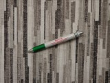 Loneta, szürke-fekete csíkos, kerti bútor vászon (10849)