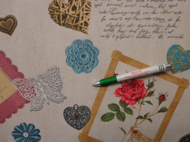 Loneta, vintage mintás, kerti bútor vászon (10852)