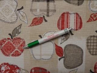 Loneta, drapp alapon nagy almás, kerti bútor vászon (10853)